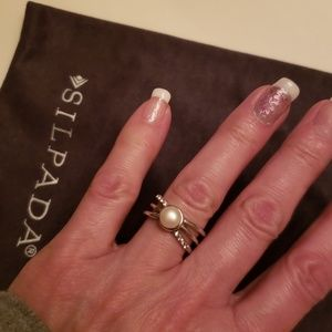 Silpada Sterling Silver and Pearl ring